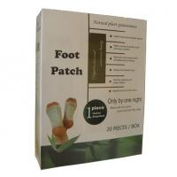 Bamboo detox foot patch with adhesive is the best Chinese herb foot detox pad Manufactures
