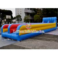 China Customized Inflatable Sport Games , Mixing Color Inflatable Double Slide on sale