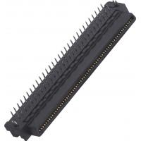 T Type 100 Pin black color Computer Pin Connectors  Male 90°DIP  Max For Electronic ROHS Manufactures