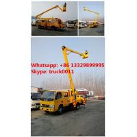 CLW DONGFENG double cabs 16m high altitude operation truck, DONGFENG 95hp 14m-16m overhead working platform truck Manufactures