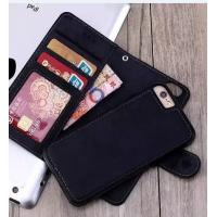 Soft Cover Iphone 6 2 In 1 Wallet Case Crazy Horse Customized With Magnetic Clip