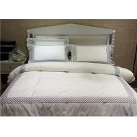 Embroidered Cotton Duvet Covers , Pretty White Duvet Covers And Shams Manufactures