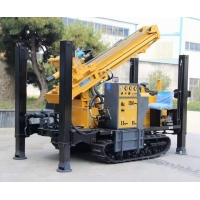 Borehole Crawler Pneumatic DTH Deep Water Well Drilling Rig Machine With Air Compressor Manufactures