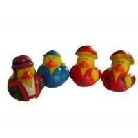 Quality 5cm Length Mini Rubber Ducks Squeezing Bee Design Baby Bath Time Fun Toy for sale