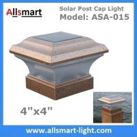 4''x 4'' Inch Square Solar Post Cap Light For Wooden Fencing Front Yard and Backyards Gate Landscaping Residential Manufactures