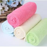 Embossed Face Kitchen Tea Towels Soft Suction Multi Color With Takehara Fiber Manufactures