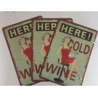 Restaurant Vintage Tin Plate Signs Home Decoration Personalized Metal Signs Manufactures