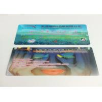 0.6MM PET Flip Effect 3D Lenticular Business Cards UV CMYK Printing Manufactures