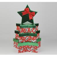 Fancy High Gloss Gift Boxes , Four Christmas Star Gift Storage Boxes With Overhanging Lid Manufactures