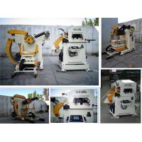Industrial NC Servo Decoiler Straightener Feeder for 0.5 - 4.5mm Thickness All Metal Coil Manufactures