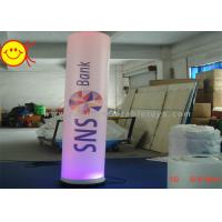 Decorative Inflatable Colourful  Lighting Pillar Tube With Digital Printing Manufactures