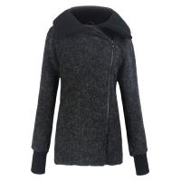 High Collar ladies fall jackets / womens winter Wool coats and jackets Manufactures