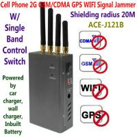 4 Antenna Handheld Cell Phone 2G GSM GPS WIFI Signal Jammer Blocker W/ Single Band Switch Manufactures