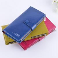Female Genuine Leather Clutch Wallet Large Capacity With Zipper Buckle Manufactures