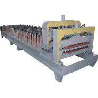 Automatical Roof Glazed Tile Roll Forming Machine With PANASONIC PLC Computer Control Manufactures
