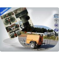 Single Cylinder Diesel Trailer Mobile Light Tower Rental With Air - Cooled Manufactures