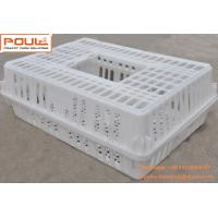 Quality White Orange Color Plastic PE Material Broiler Chicken Carriage Cage & Transport Cage for Poultry Farming for sale