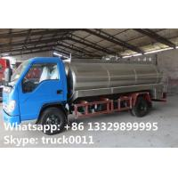 Quality Good quality 8m3 Forland LHD 4*2 stainless steel  fresh milk tank for sale, China manufacturer of forland milk truck for sale