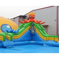 Most Popular PVC Blow up kids mobile inflatable octopus water slide amusement