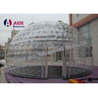 0.8mm Pvc Material Dry Inflatable Event Tent Holley web Inflatable Bubble Tent House Dome Manufactures