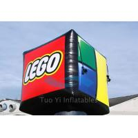 White Square Promotional Helium Balloons , Fire Retardant Big Advertising Balloons Manufactures