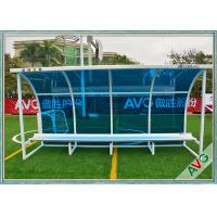 Football Subs Bench Soccer Field Equipment For Outdoor 8 Seat Team Shelter Manufactures