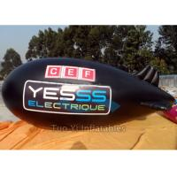 Gain Exposure Helium Advertising Zeppelin / Inflatable Blimp For Event Rental Manufactures
