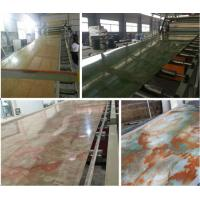 PVC Imitation Marble Decorative Sheet Extruder/PVC Marble Board Extrusion Machine (SJSZ80X156) Manufactures