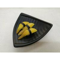 Quality Imitation Porcelain Dinnerware Sets Black Color Triangle-Shape Length 20cm for sale