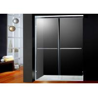 America Style Double Sliding Shower Doors Glass With 2 Bright Handles Manufactures