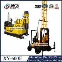 China 600m depth engineering water well drilling rig machine XY-600F with mud pump on sale