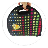 China Reusable 4mm Neoprene Lunch Tote , Sandwich Bag With A Long Zipper on sale