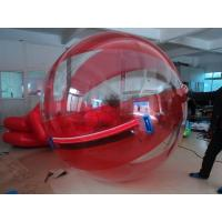 Red beach Inflatable Water Walking Ball , Water Walking Balls Manufactures