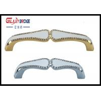 Gold Plated Crystal Door Pulls Gorgeous 96mm Chrome With Shiing Crystal Dresser  Knobs Manufactures