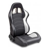 Sparco Style Leather Racing Sport Auto Car Seats / Black And White Racing Seats Manufactures