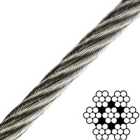 1/16 Inch 7x7 304 Stainless Steel Aircraft Cable Breaking Strength 480lb Manufactures