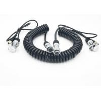 Flexible Coiled Power Cord Trailer CCTV Camera Cable For Electronics Manufactures