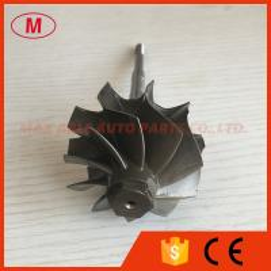 GT2835R 51.80/56.55mm 10 blades ball bearing turbo turbine wheel shaft / turbine shaft&whe