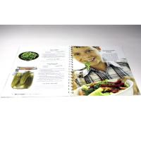 Black Printing Cook Book Offset Printing With Wire-O / Spiral Binding Manufactures