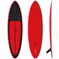 "Red Inflatable SUP Board 9'6"" Firberglass Plate Design Fast Speed High Durability Manufactures"