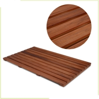 China Kitchen Hotel Retro 80*48.5*3cm Teak Wood Bath Mat on sale