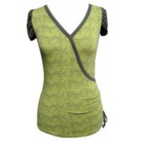 OEM Green Bamboo tops women v neck t shirt eco friendly clothing Manufactures