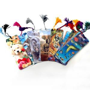 fashion lenticular 3d plastic bookmark with tassel Manufactures