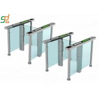 AC 220V Glass Electric Swing Gate Turnstiles 40 People / Min Normal Open Manufactures