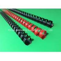 Black / Red Plastic Binding Combs 20mm Punched Into Papers Rectangular Holes Manufactures