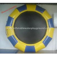 Large Durable Kids Water Bouncer Floating Trampoline Toys , Yellow / Dark Blue Manufactures