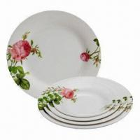 Melamine Plates for Home, Restaurant and Hotel, Customized Designs Accepted Manufactures