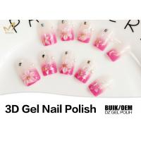 Long Wearing Nail Art 3d Gel Paint , No Buble 3d Sculpting Gel Odorlessness Manufactures