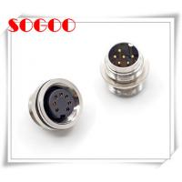 M16 Socket Electrical Wire Connectors Front / Panel Mount CE Rohs Certificated Manufactures