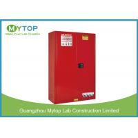 Metal 60 Gal Red Color Flammable Chemical Storage Containers With Double Vents Manufactures